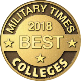 2018 Military Time Best Colleges Badge